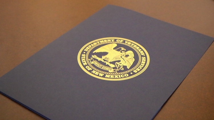New Mexico Department of Veterans' Services recognition