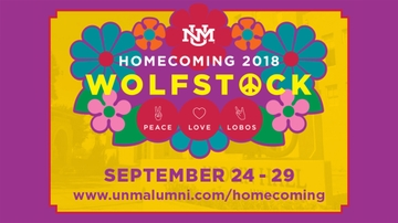 UNM celebrates 'Homecoming 2018: Wolfstock – Peace, Love and Lobos'
