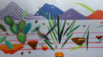 Parish Memorial Library mural unveiled