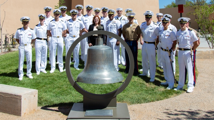 USS New Mexico Bell Rededication Ceremony
