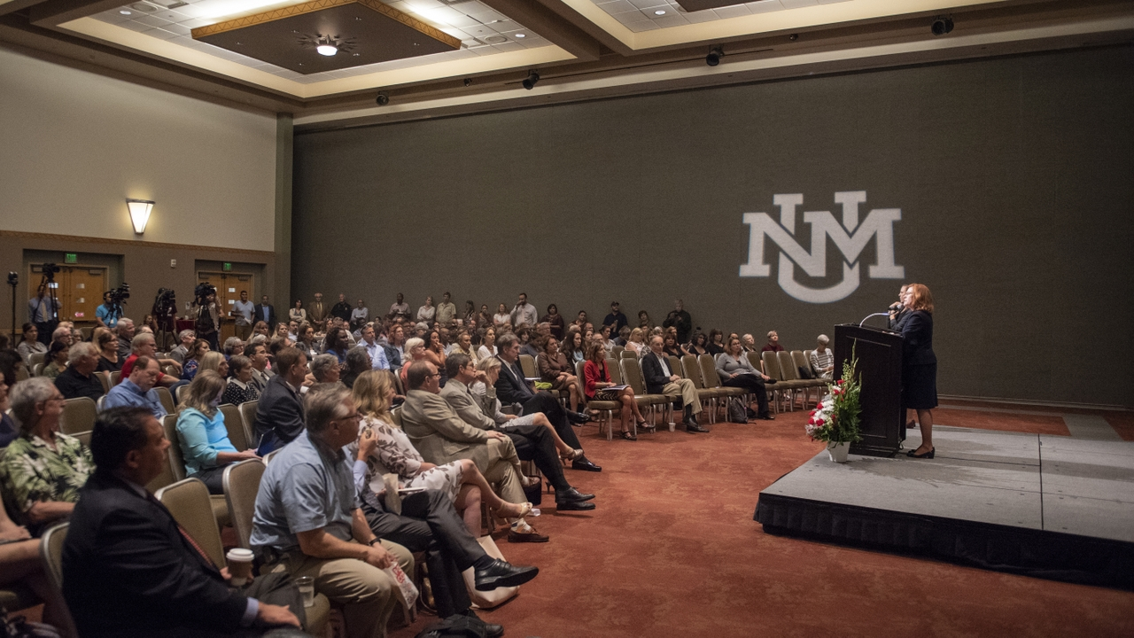 President Stokes delivers State of the University Address