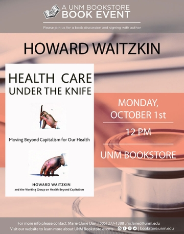 Dr. Howard Waitzkin event flyer