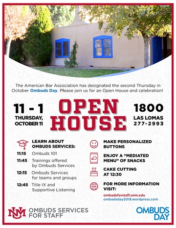 2018 Ombuds Open House Invitation