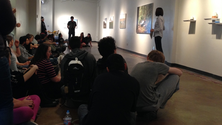 Students gather at a UNM gallery space in downtown ABQ