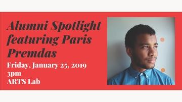 Alumni Spotlight: Paris Premdas speaks at UNM ARTS Lab