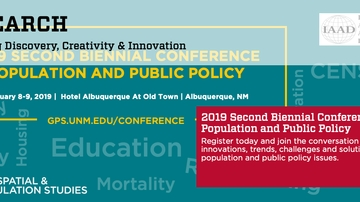 2019 Population and Public Policy Conference set for Feb. 8-9