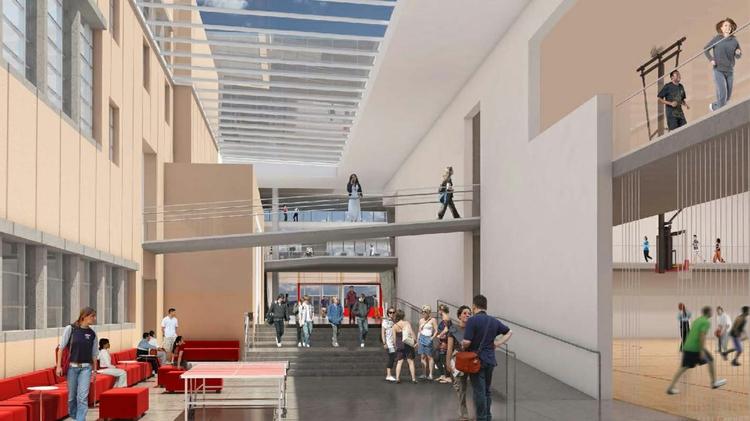 Johnson Center lobby render