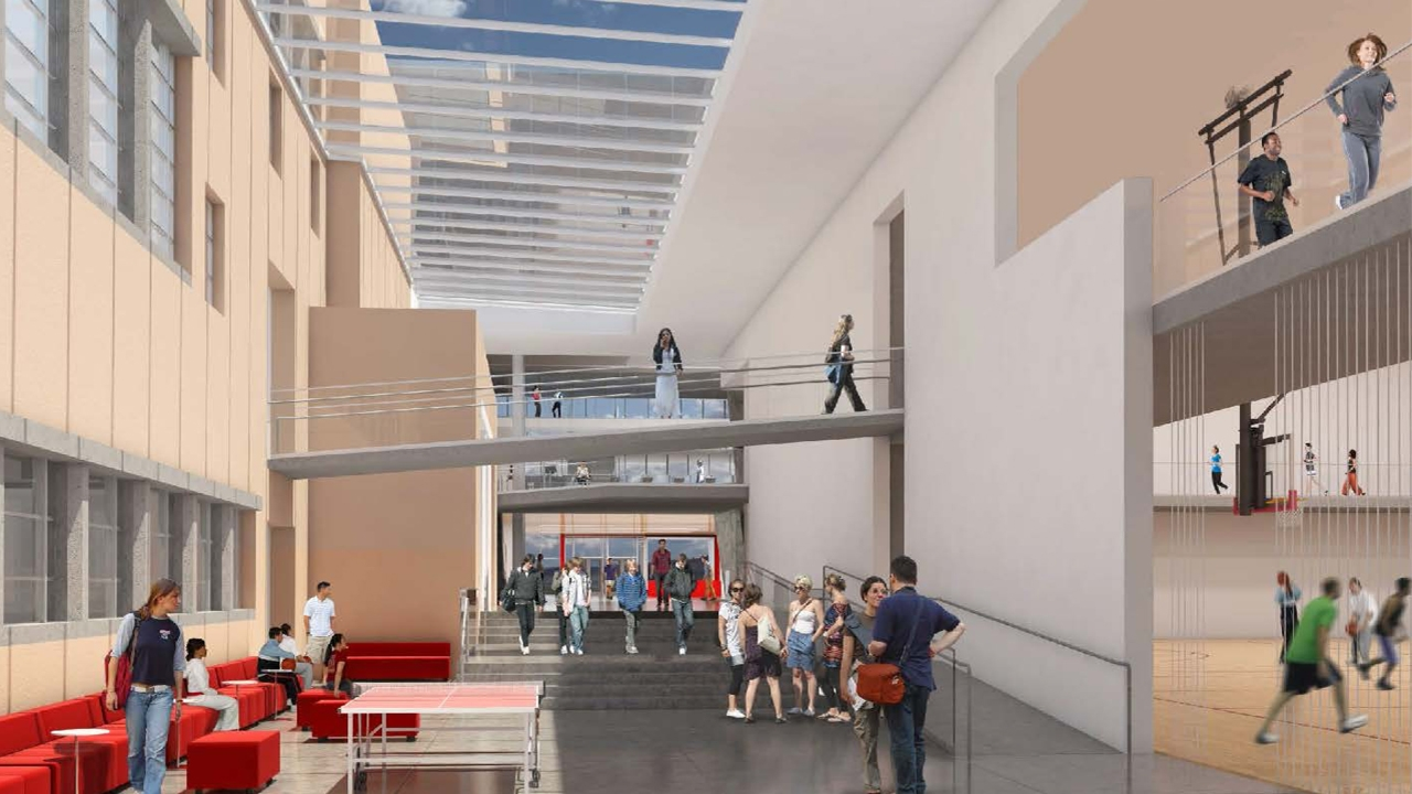Johnson Center lobby render