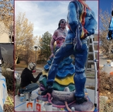 UNM restores iconic sculpture on campus