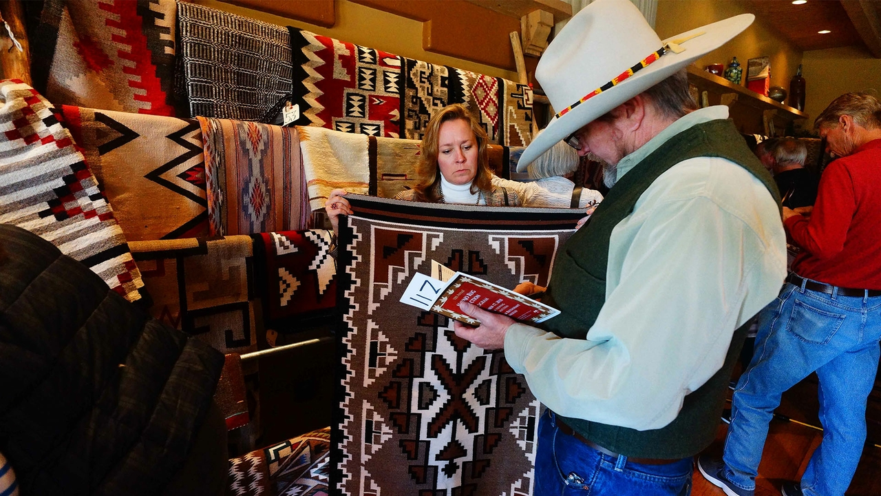 Navajo rug auction
