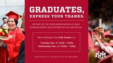 UCAM seeks Dec. graduates for video