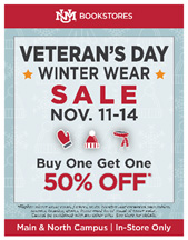 Bookstore Veterans Day sale