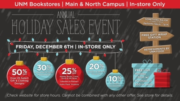 UNM Bookstores host Annual Holiday Sales event and Apple One Day Sale Dec. 6