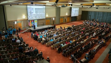 NASA astronaut chats live with 500 students at UNM