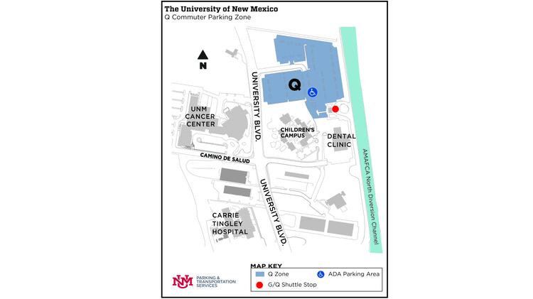 Q Lot Location Map