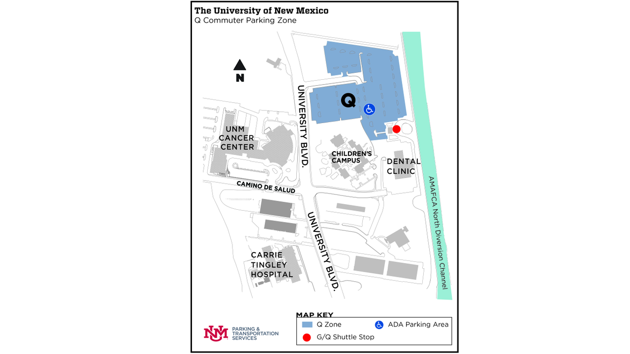 Q Lot Location Map