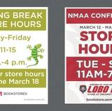 UNM Bookstores Spring Break hours