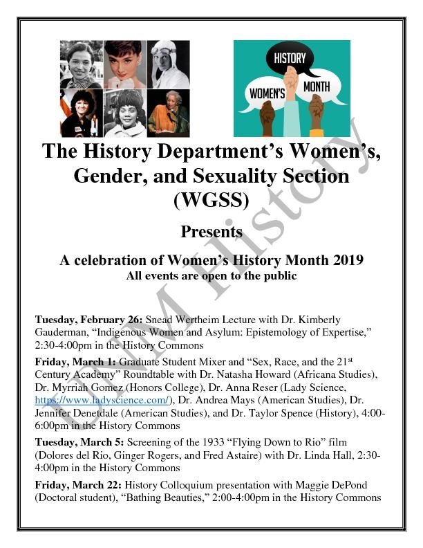 Womens History Month Flyer