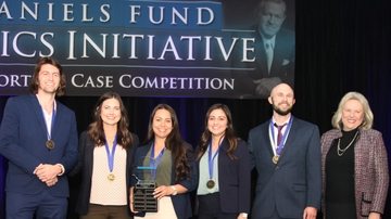 Anderson graduate students take first place honors in Daniels Fund competition