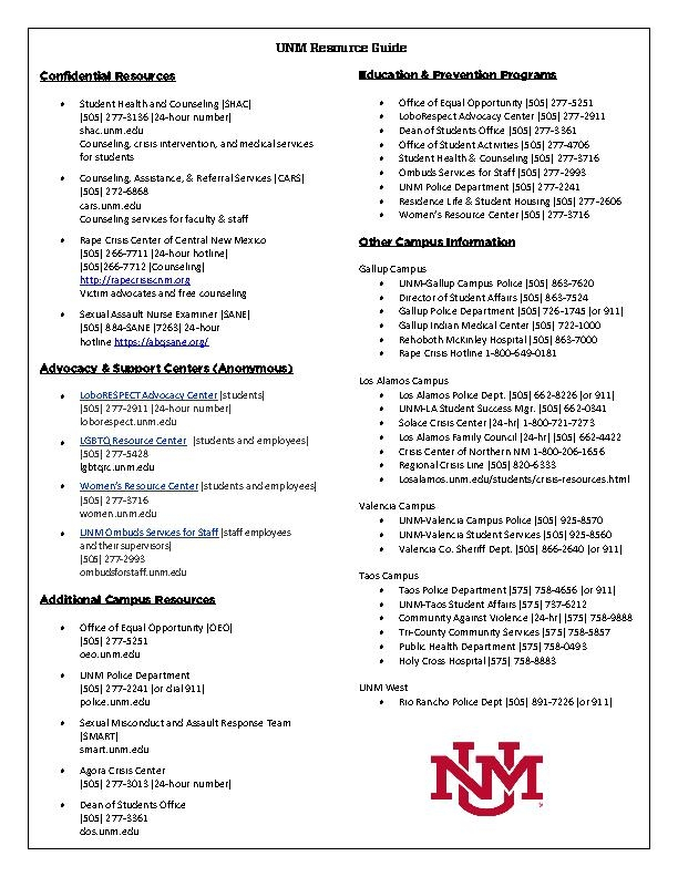 UNM Resource Guide