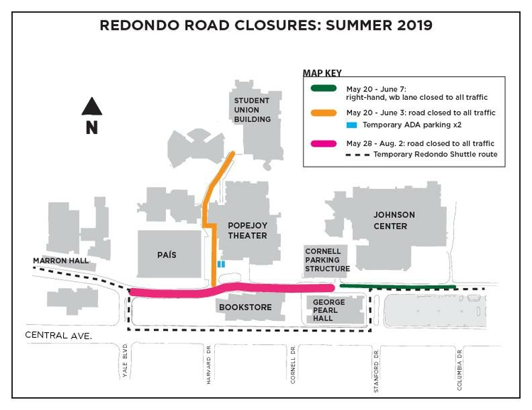 Redondo rd. closures summer 2019