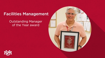 Lucero named Facilities Management Outstanding Manager of the Year