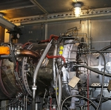 Turbine jet engines installed on main campus to support energy systems