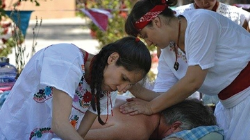 Free traditional health fair set as part of curanderismo class