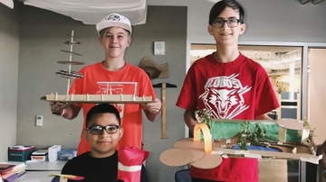 Middle schoolers explore design at UNM SA&P