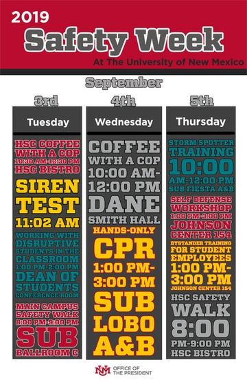 Safety Week Schedule