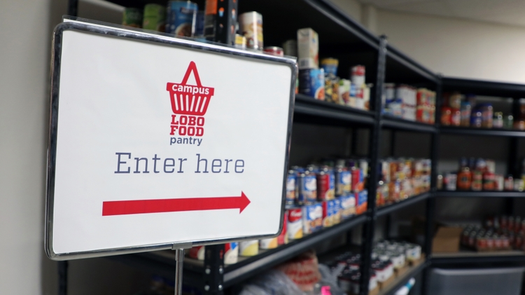 The on-campus food pantry is now open