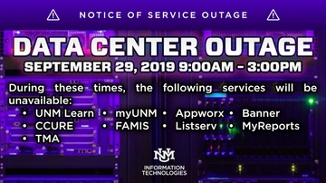 UNM's IT schedules data center outage Sept. 29