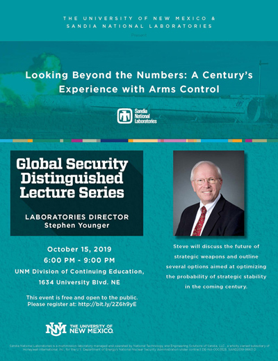 Global Security Distinguished Lecture Series 10.15.19