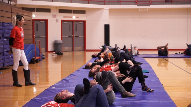 Student take yoga before math course