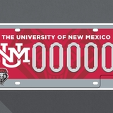 UNM's campus community selects cherry license plate