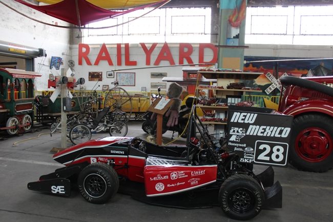FSAE race car on display at Wheels Museum
