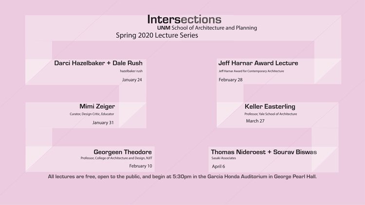 School of Architecture and Planning announces spring lecture series lineup