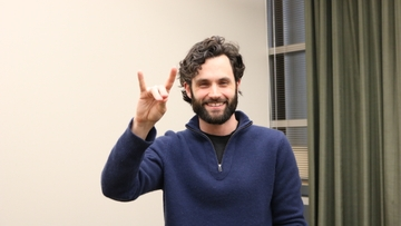Spotted: Penn Badgley on UNM's Campus