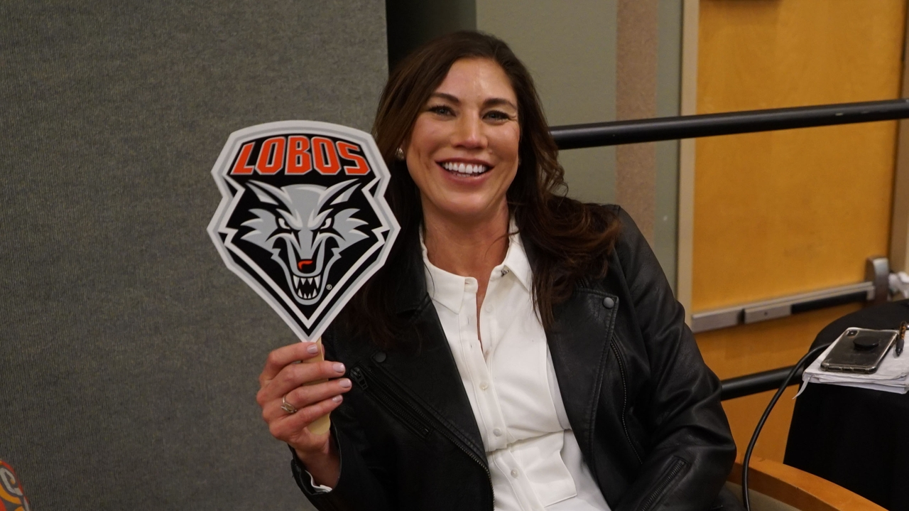 Champion and Activist: Hope Solo visits The University of New Mexico