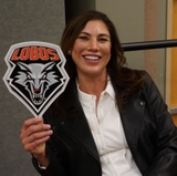 Fans turn out as UNM hosts soccer star Hope Solo