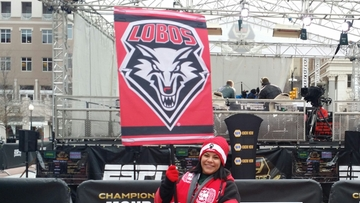 Former Lobo shows support each College GameDay with UNM flag