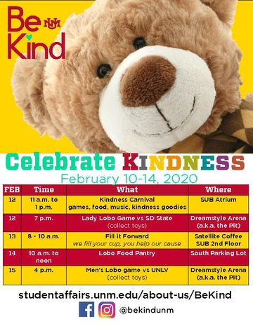 Be Kind Schedule Flyer