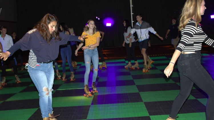Students can skate