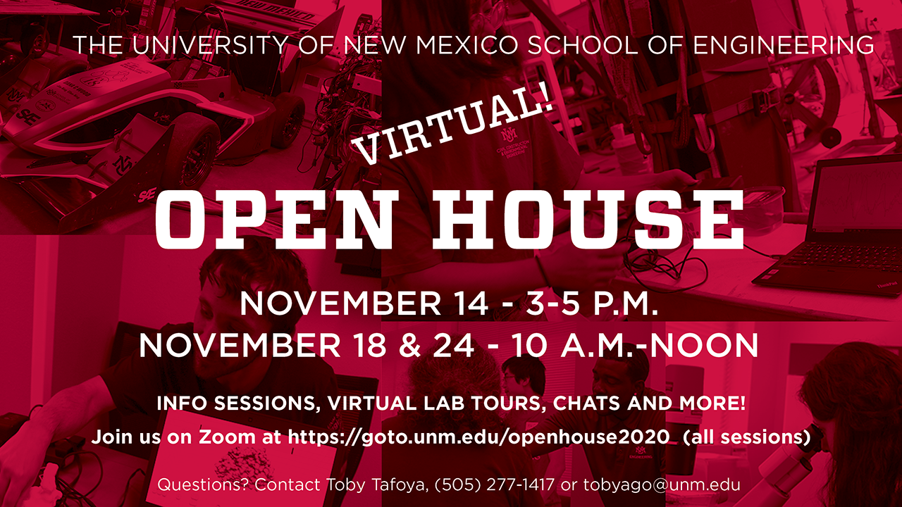 2020 Open House postcard front