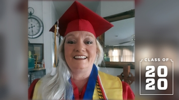 Inspiring grad chases her true passion at 52