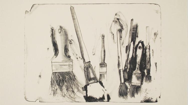 Brushes Drawn on Stone #2