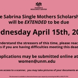 WRC extends Sabrina Single Mothers scholarship application deadline