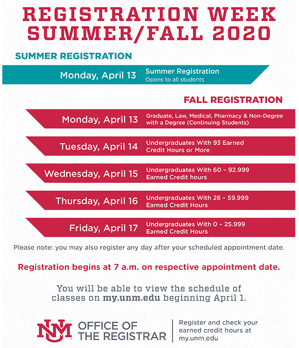 Registration Week Graphic
