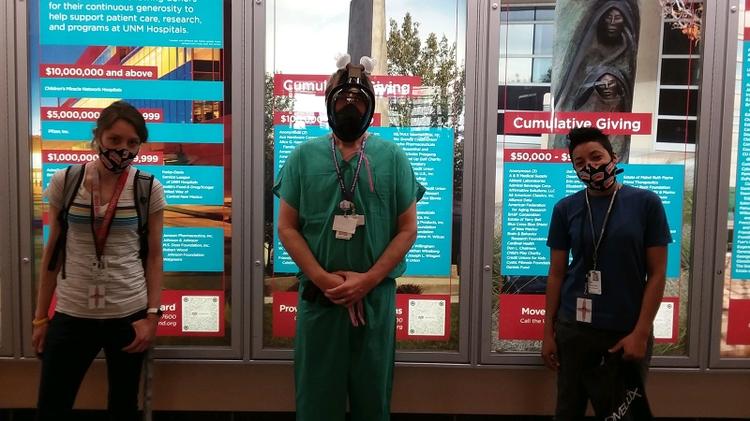 Mask demonstration