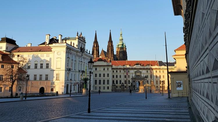 Prague streets amid COVID-19 pandemic